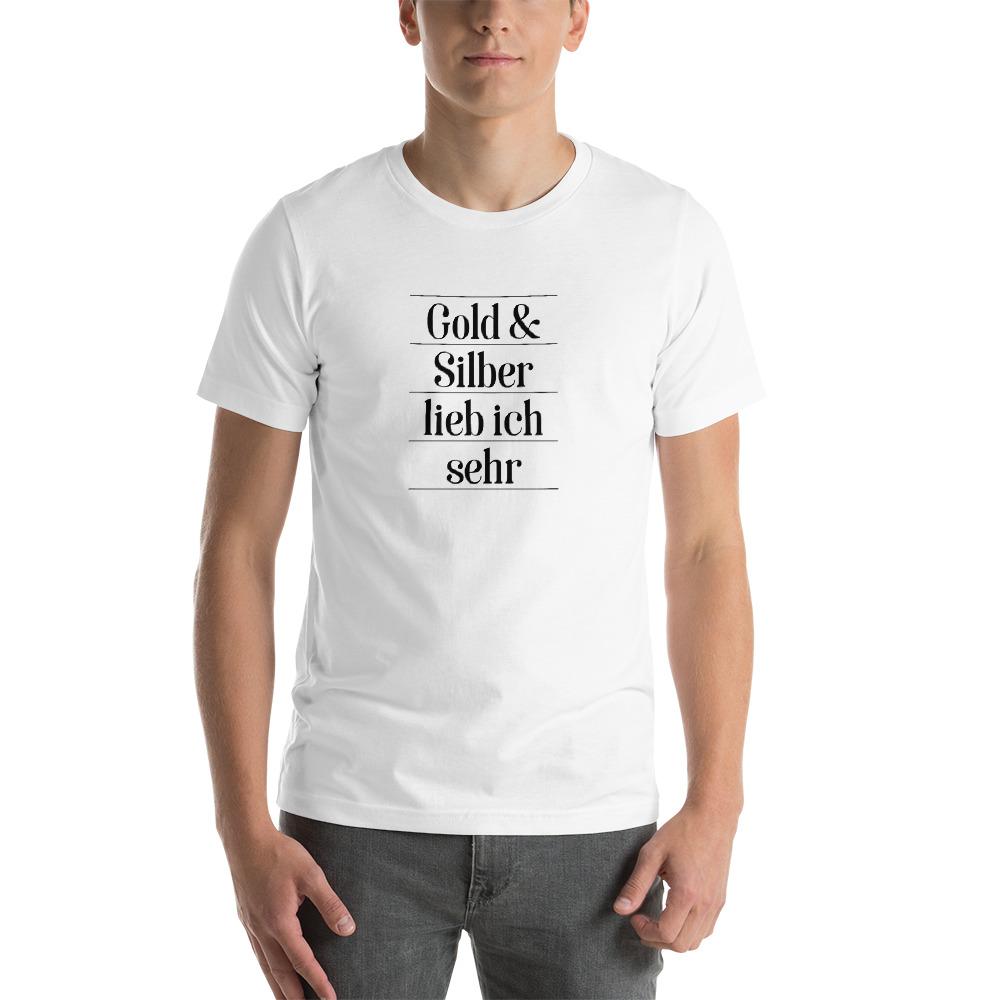 Gold und Silber T-Shirt Couleurlife Studentenverbindung Korpo